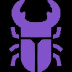 紫色のクワガタ
